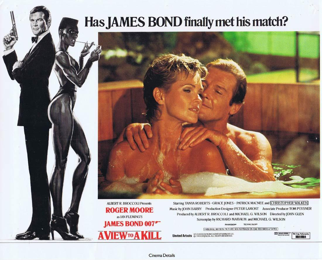 A VIEW TO A KILL British Lobby Card 8 1985 James Bond