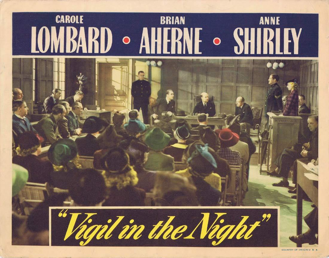VIGIL IN THE NIGHT Lobby Card Carole Lombard Brian Aherne Anne Shirley 1940