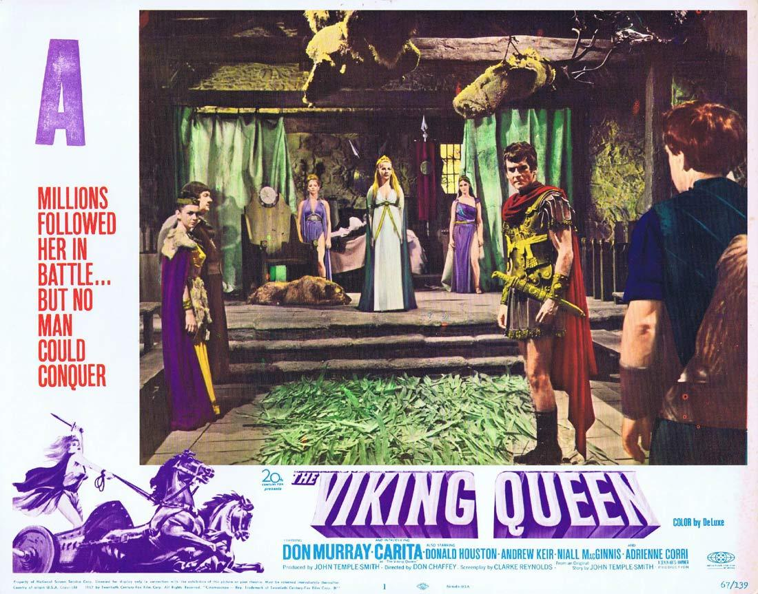 THE VIKING QUEEN Original Hammer Horror Lobby Card 1 Carita