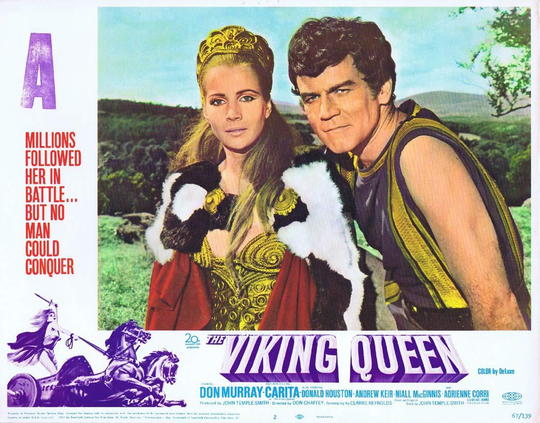 THE VIKING QUEEN Original Hammer Horror Lobby Card 2 Carita