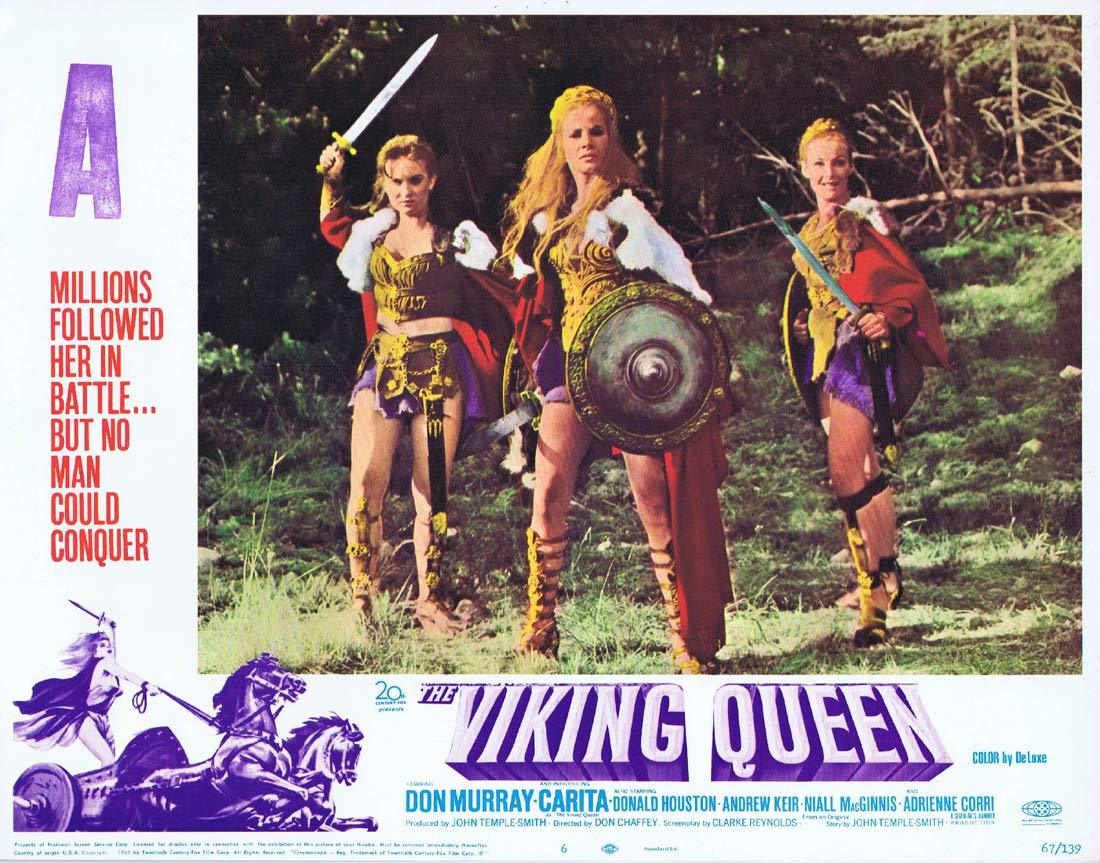 THE VIKING QUEEN Original Hammer Horror Lobby Card 6 Carita