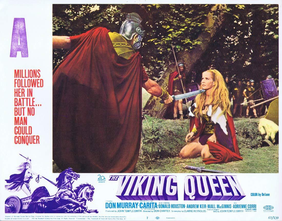 THE VIKING QUEEN Original Hammer Horror Lobby Card 7 Carita