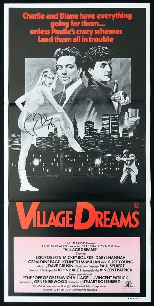 VILLAGE DREAMS Original Daybill Movie Poster ERIC ROBERTS Autograph