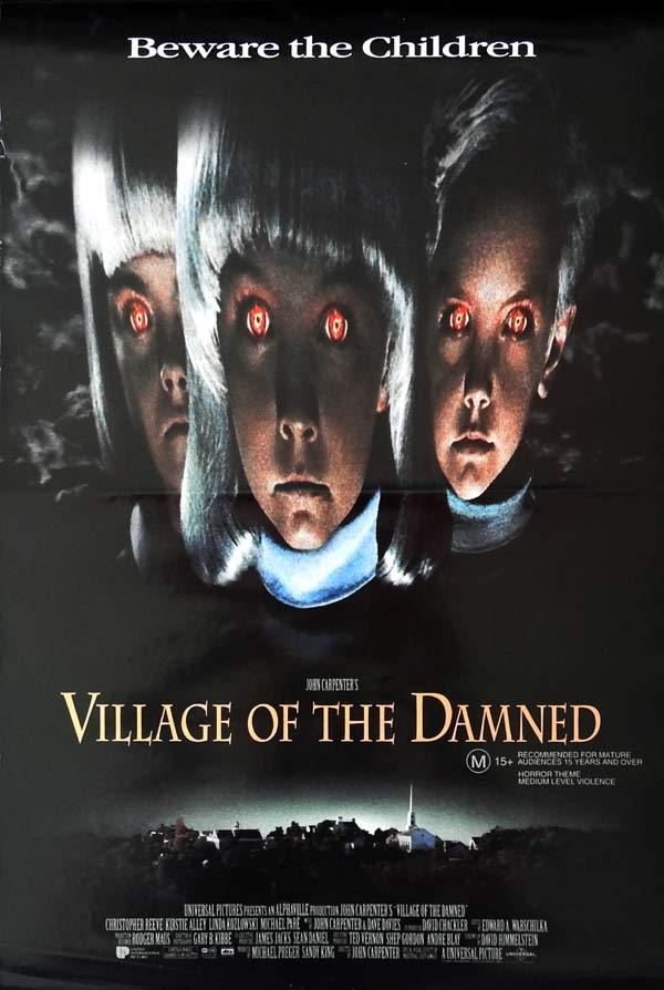 VILLAGE OF THE DAMNED Original daybill Movie Poster JOHN CARPENTER Midwich Cuckoos