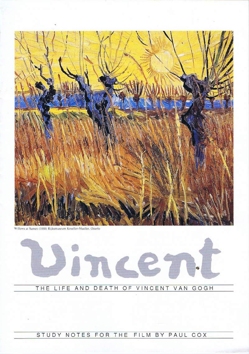 VINCENT Original Australian Movie Study Guide Paul Cox