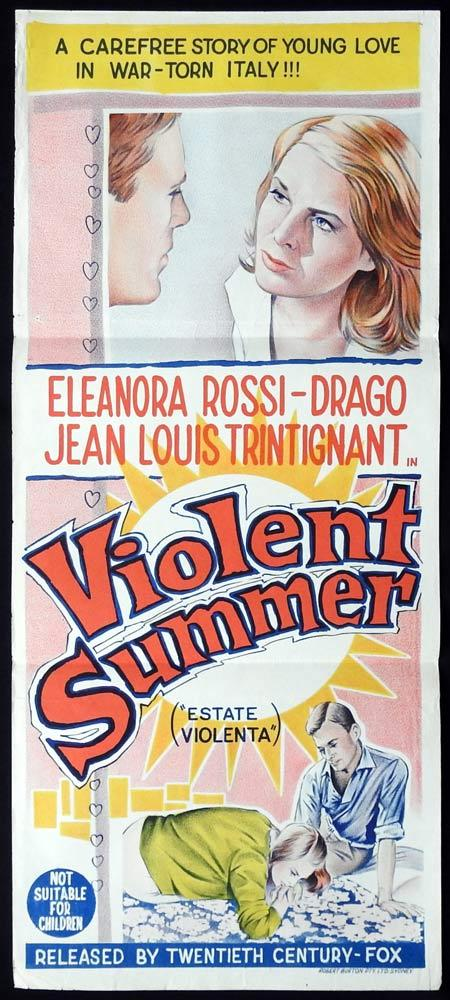 VIOLENT SUMMER Original daybill Movie Poster Eleonora Rossi Drago Jean-Louis Trintignant