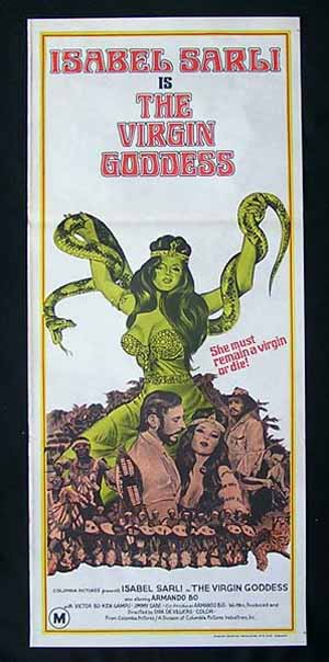THE VIRGIN GODDESS '73-Sarli ORIGINAL poster