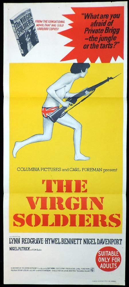 THE VIRGIN SOLDIERS Original Daybill Movie Poster Lynn Redgrave Hywel Bennett Nigel Davenport