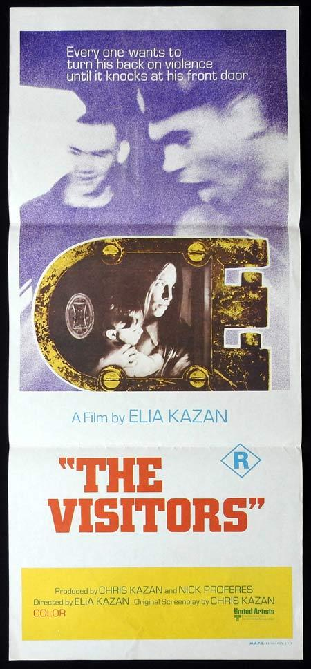 THE VISITORS Original daybill Movie Poster Elia Kazan 1972