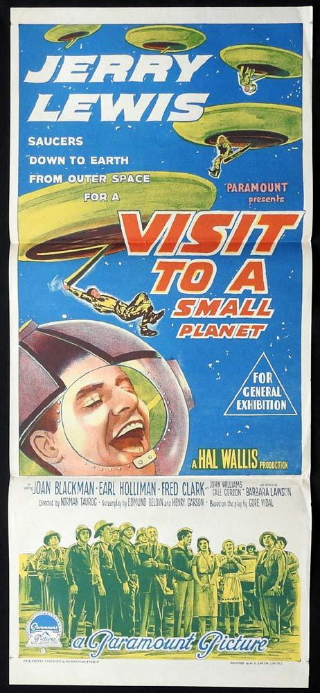 VISIT TO A SMALL PLANET Original Daybill Movie Poster Jerry Lewis Richardson Studio
