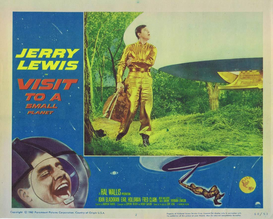 VISIT TO A SMALL PLANET Original Lobby Card 2 Jerry Lewis Joan Blackman