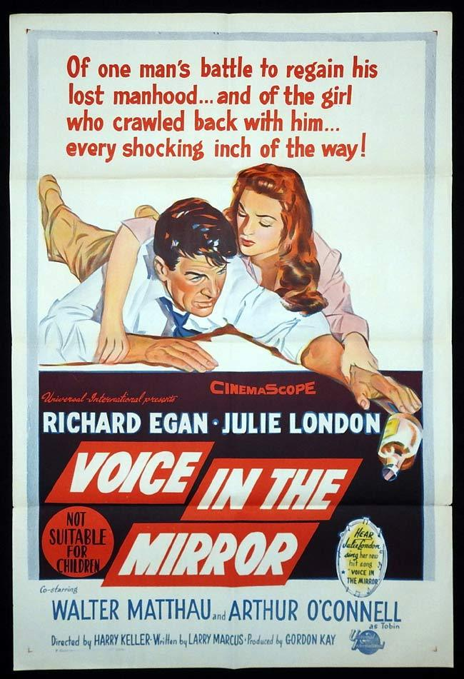 VOICE IN THE MIRROR Original One sheet Movie poster Richard Egan Julie London