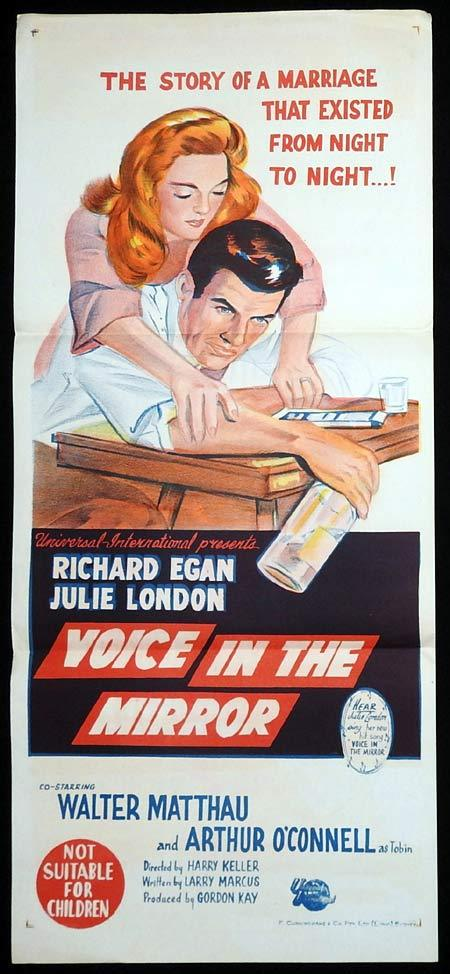 VOICE IN THE MIRROR Original Daybill Movie poster