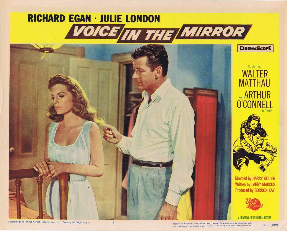 VOICE IN THE MIRROR Original Lobby Card 4 Richard Egan Julie London