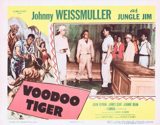 VOODOO TIGER 1952 Lobby Card 1 Jungle Jim Johnny Weissmuller