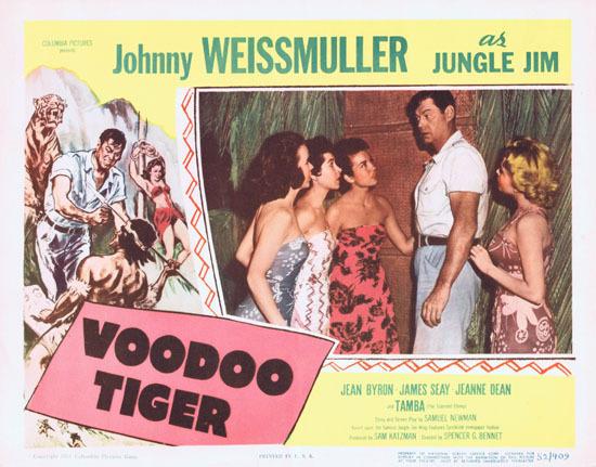 VOODOO TIGER 1952 Lobby Card 2 Jungle Jim Johnny Weissmuller