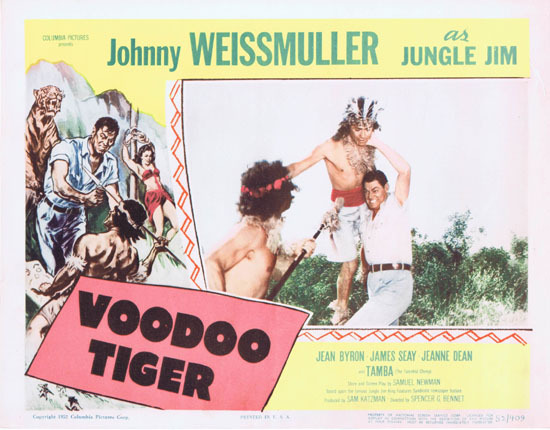VOODOO TIGER 1952 Lobby Card 3 Jungle Jim Johnny Weissmuller