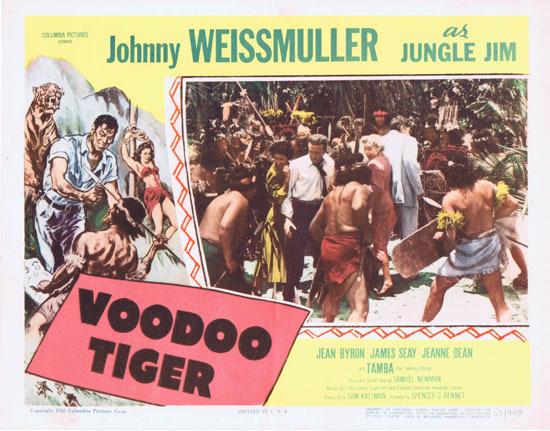 VOODOO TIGER 1952 Lobby Card 4 Jungle Jim Johnny Weissmuller