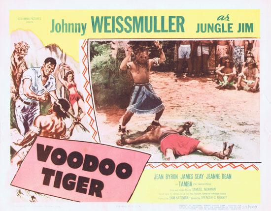 VOODOO TIGER 1952 Lobby Card 6 Jungle Jim Johnny Weissmuller