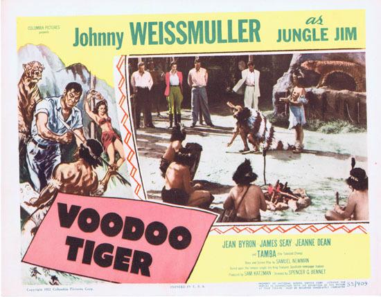 VOODOO TIGER 1952 Lobby Card 7 Jungle Jim Johnny Weissmuller
