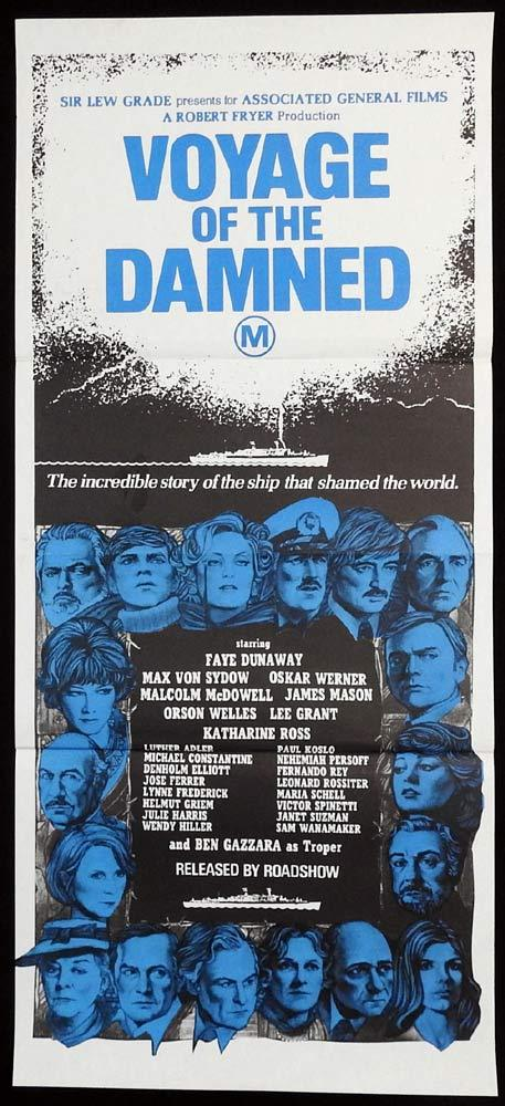VOYAGE OF THE DAMNED Original Daybill Movie Poster Faye Dunaway Oskar Werner