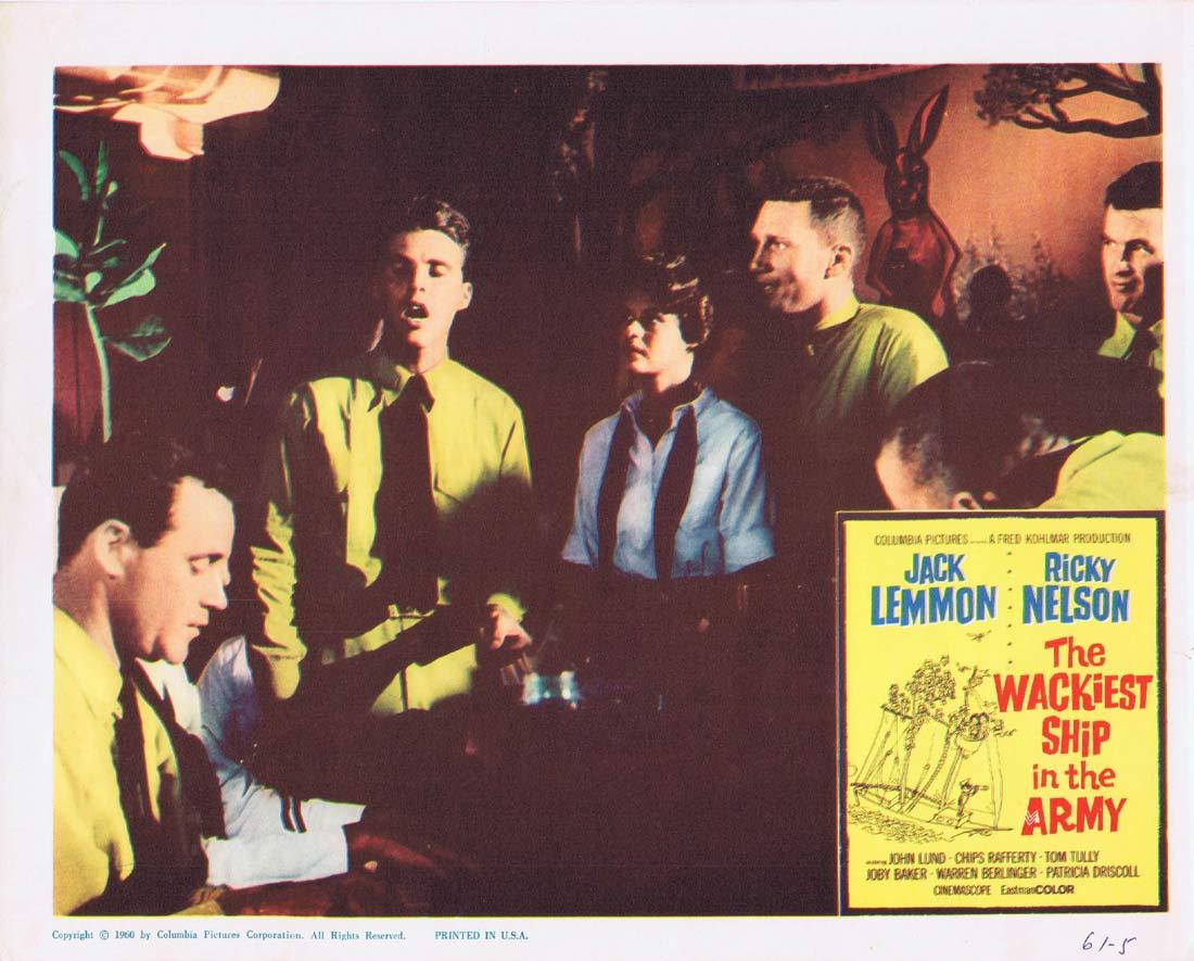 THE WACKIEST SHIP IN THE ARMY Lobby Card 2  Jack Lemmon Ricky Nelson
