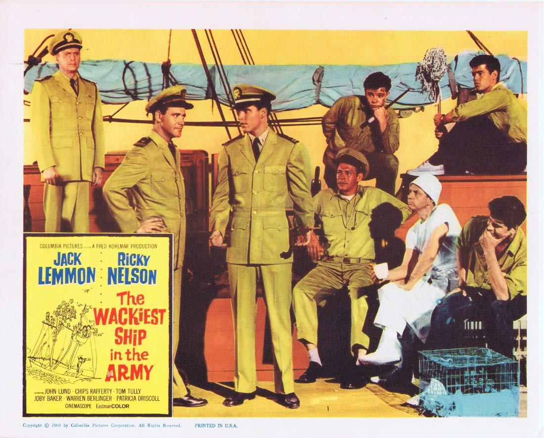 THE WACKIEST SHIP IN THE ARMY Lobby Card 3  Jack Lemmon Ricky Nelson