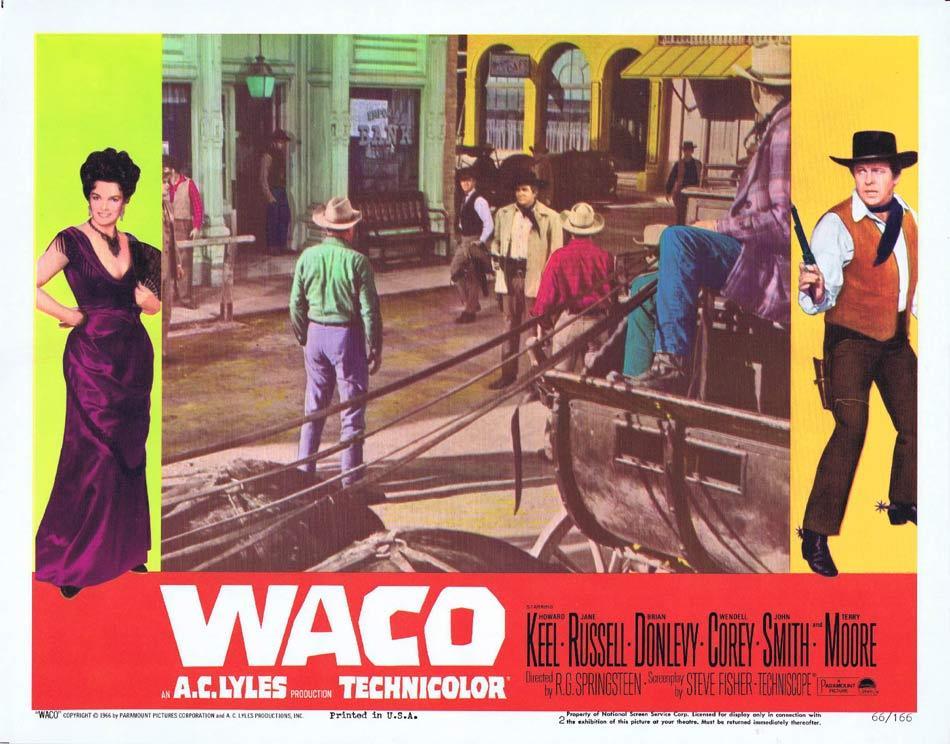 WACO Lobby Card 2 Howard Keel Jane Russell Brian Donlevy