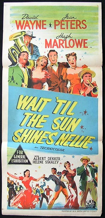 WAIT TILL THE SUN SHINES NELLIE '52 Rare Movie poster