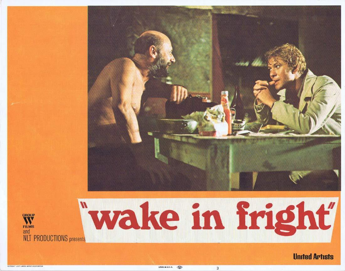 WAKE IN FRIGHT Original Lobby Card 3 Donald Pleasence Gary Bond Chips Rafferty