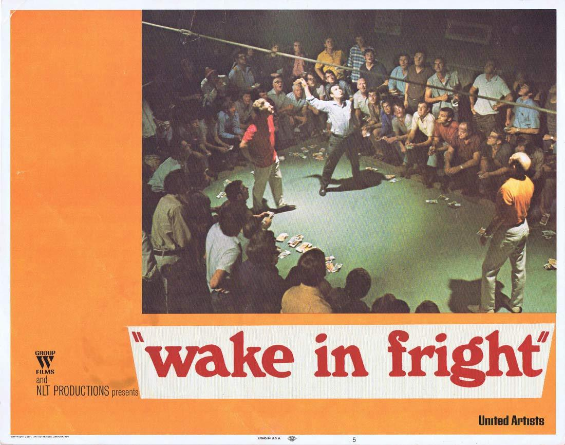 WAKE IN FRIGHT Original Lobby Card 5 Donald Pleasence Gary Bond Chips Rafferty
