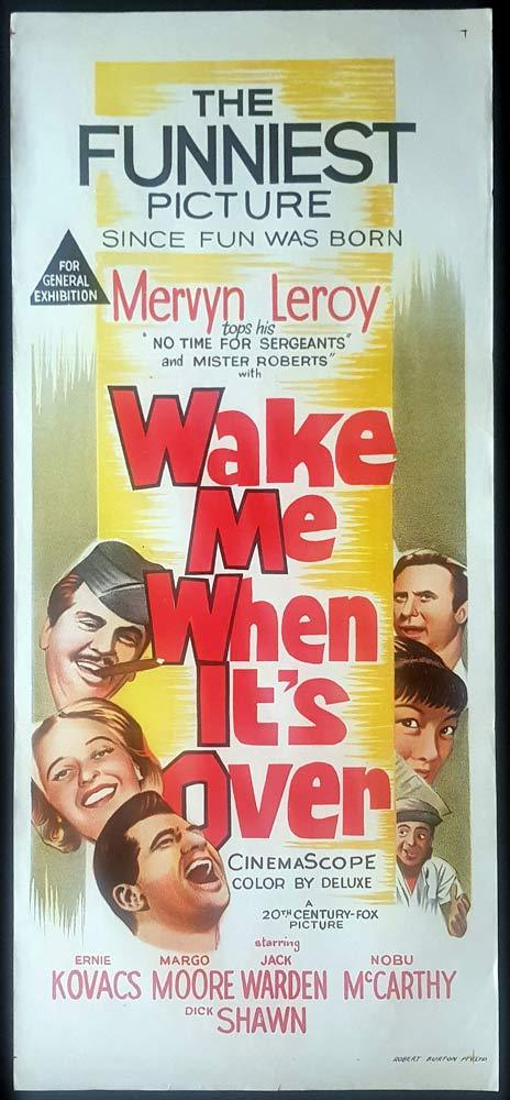 WAKE ME WHEN IT'S OVER Original Daybill Movie Poster Ernie Kovacs Dick Shawn
