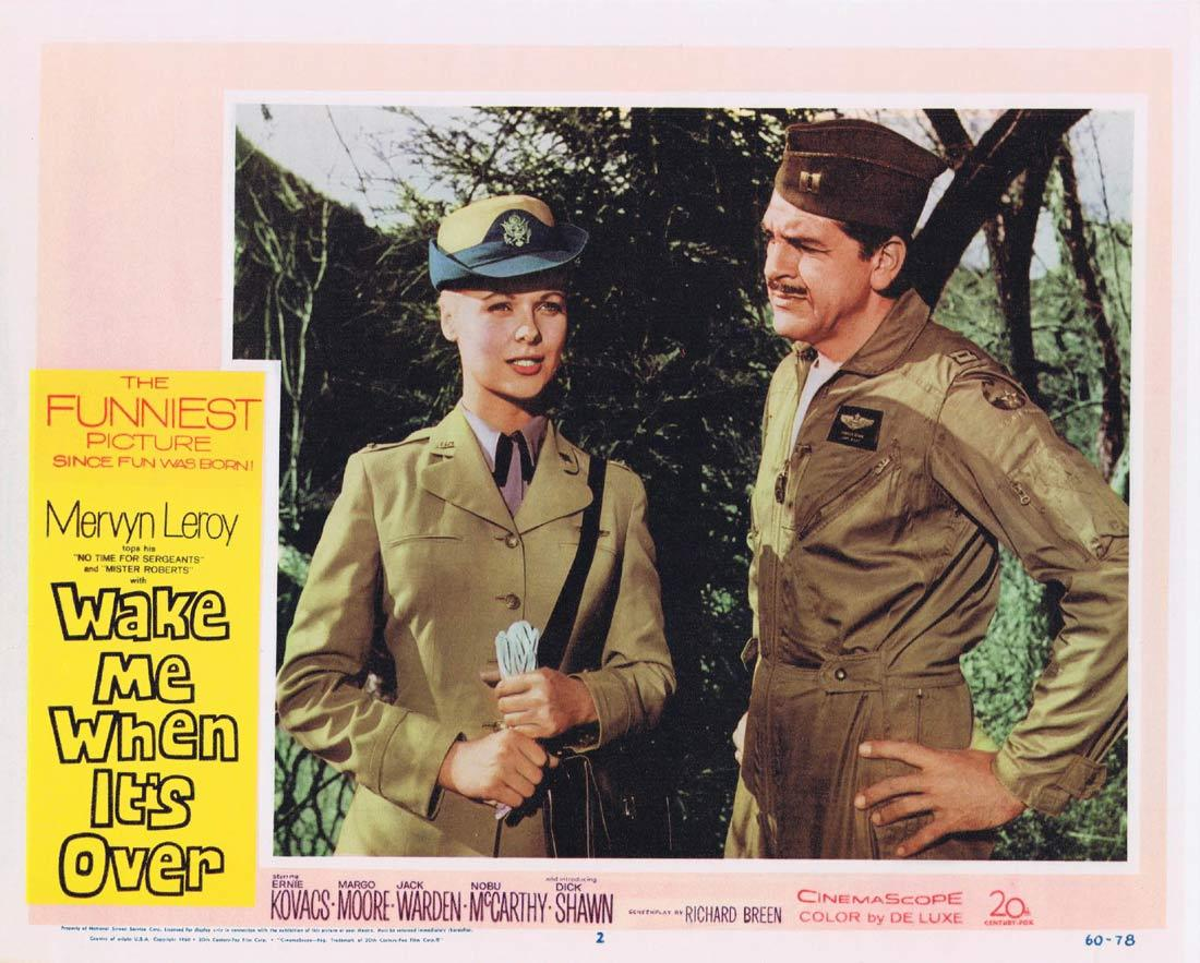 WAKE ME WHEN IT'S OVER Lobby Card 2 Ernie Kovacs Dick Shawn Margo Moore Jack Warden