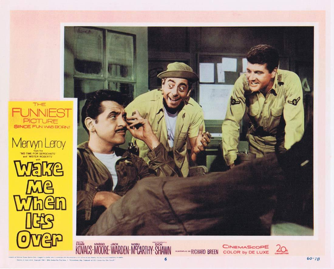 WAKE ME WHEN IT'S OVER Lobby Card 6 Ernie Kovacs Dick Shawn Margo Moore Jack Warden