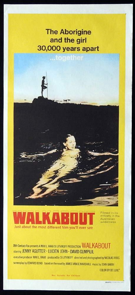 WALKABOUT Original Daybill Movie Poster Nicolas Roeg Jenny Agutter