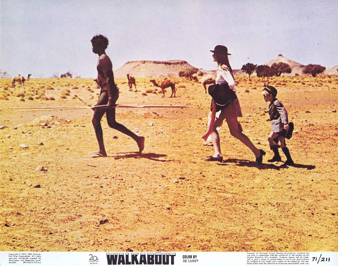 WALKABOUT Original Lobby Card 2 Jenny Agutter David Gulpilil