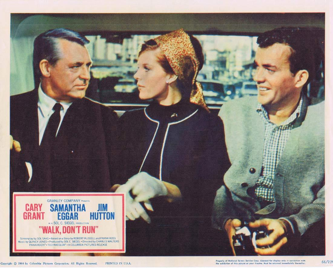 WALK DON'T RUN Lobby Card 2 Cary Grant Samantha Eggar Jim Hutton