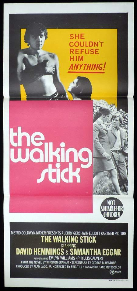 THE WALKING STICK Original Daybill Movie Poster David Hemmings