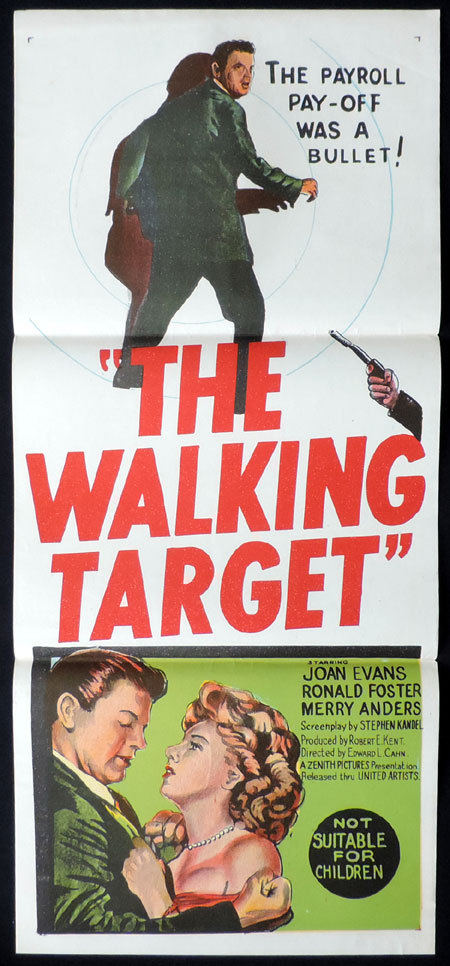 THE WALKING TARGET daybill Movie poster Merry Anders Ron Foster