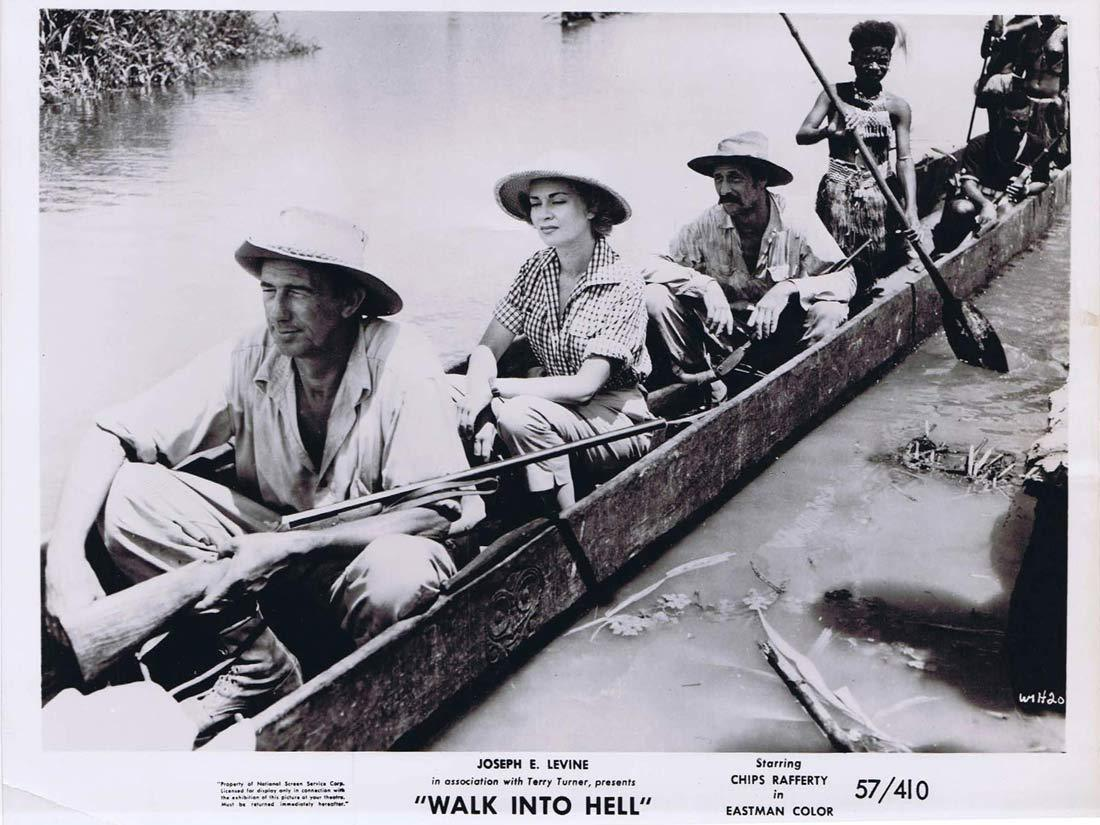 WALK INTO HELL Original Movie Still 8 Chips Rafferty canoe Walk Into Paradise
