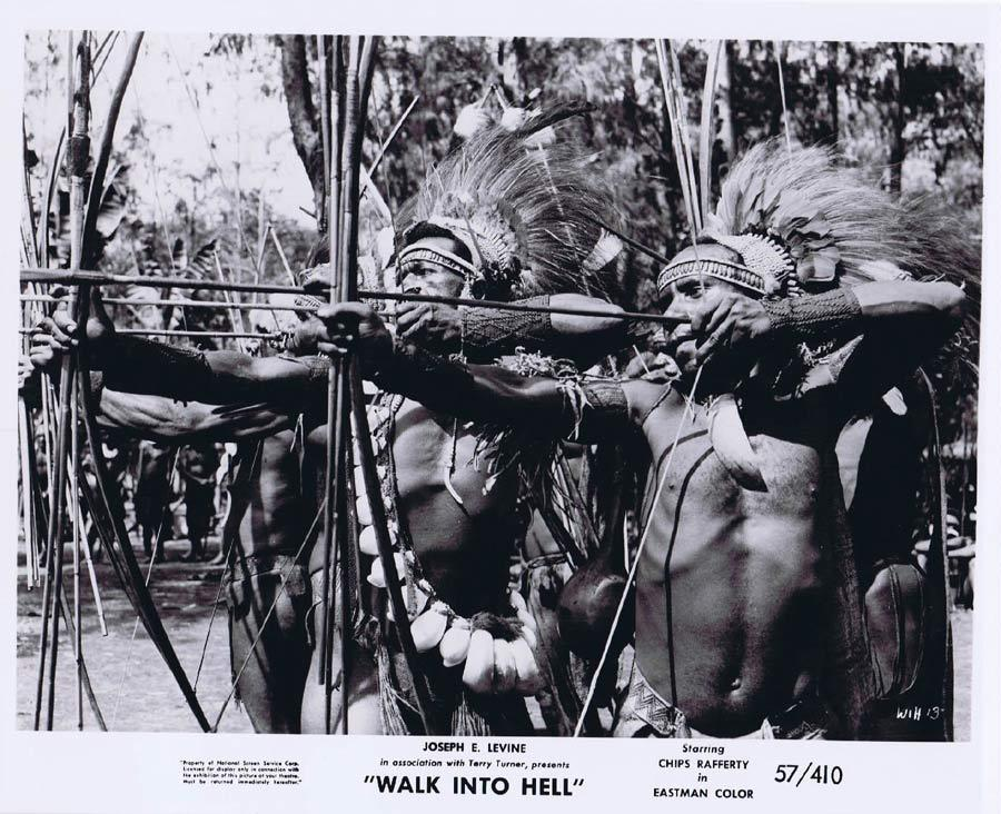 WALK INTO HELL Original Movie Still 14 New Guinea Tribesmen Walk Into Paradise