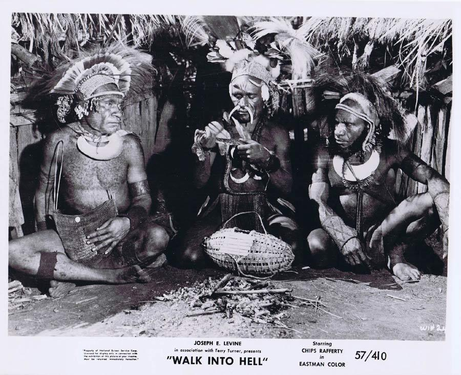 WALK INTO HELL Original Movie Still 16 New Guinea Tribesmen Walk Into Paradise