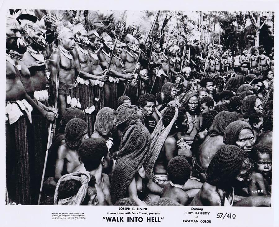 WALK INTO HELL Original Movie Still 17 New Guinea Tribesmen Walk Into Paradise