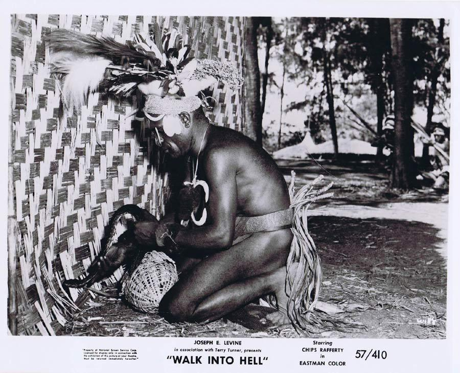 WALK INTO HELL Original Movie Still 19 New Guinea Tribesmen Walk Into Paradise