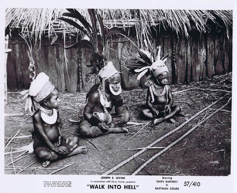 WALK INTO HELL Original Movie Still 21 New Guinea Tribesmen Walk Into Paradise