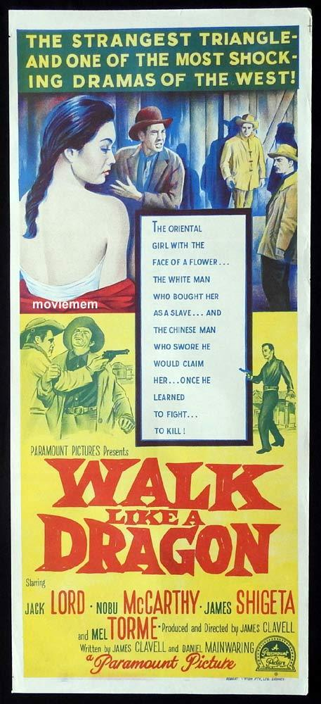 WALK LIKE A DRAGON Original Daybill Movie Poster Jack Lord Nobu McCarthy