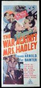 THE WAR AGAINST MRS HADLEY Original Daybill Movie Poster Edward Arnold