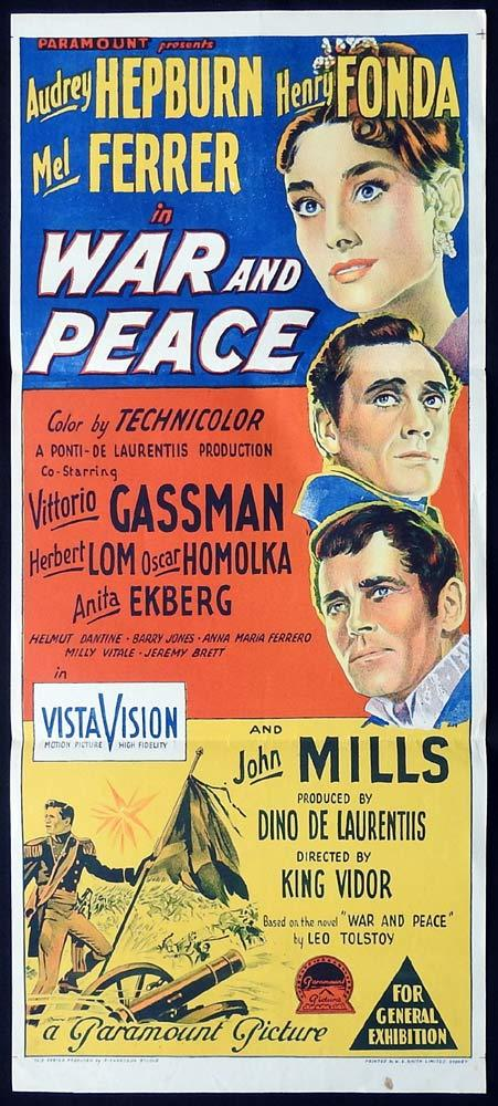 WAR AND PEACE Original Daybill Movie Poster