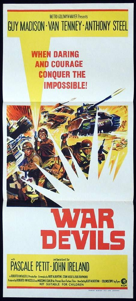 WAR DEVILS Original Daybill Movie Poster Guy Madison Anthony Steel