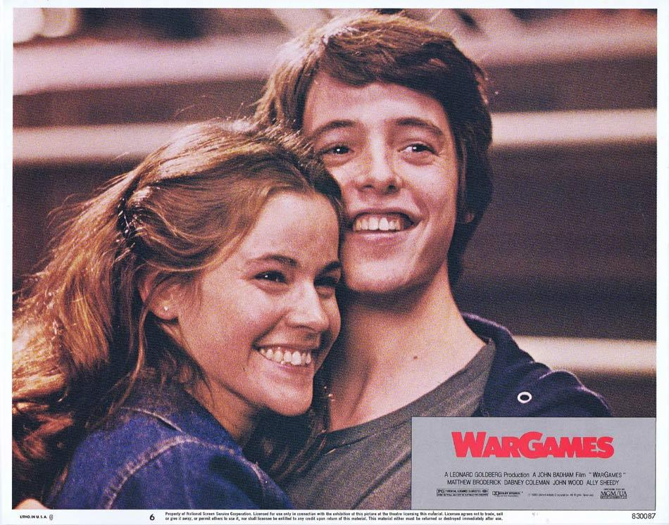 WAR GAMES Lobby Card 6 Matthew Broderick Alley Sheedy Dabney Coleman